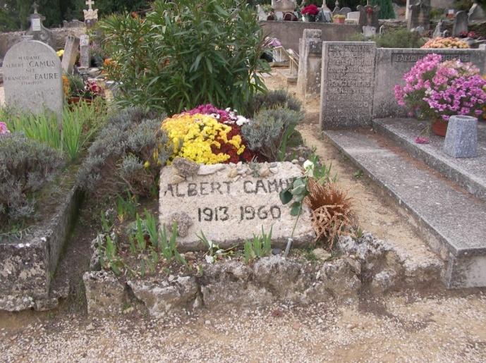 Гробът на Камю в Лурмарен