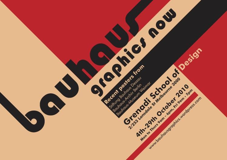 Плакат за изложба от архива на Баухаус